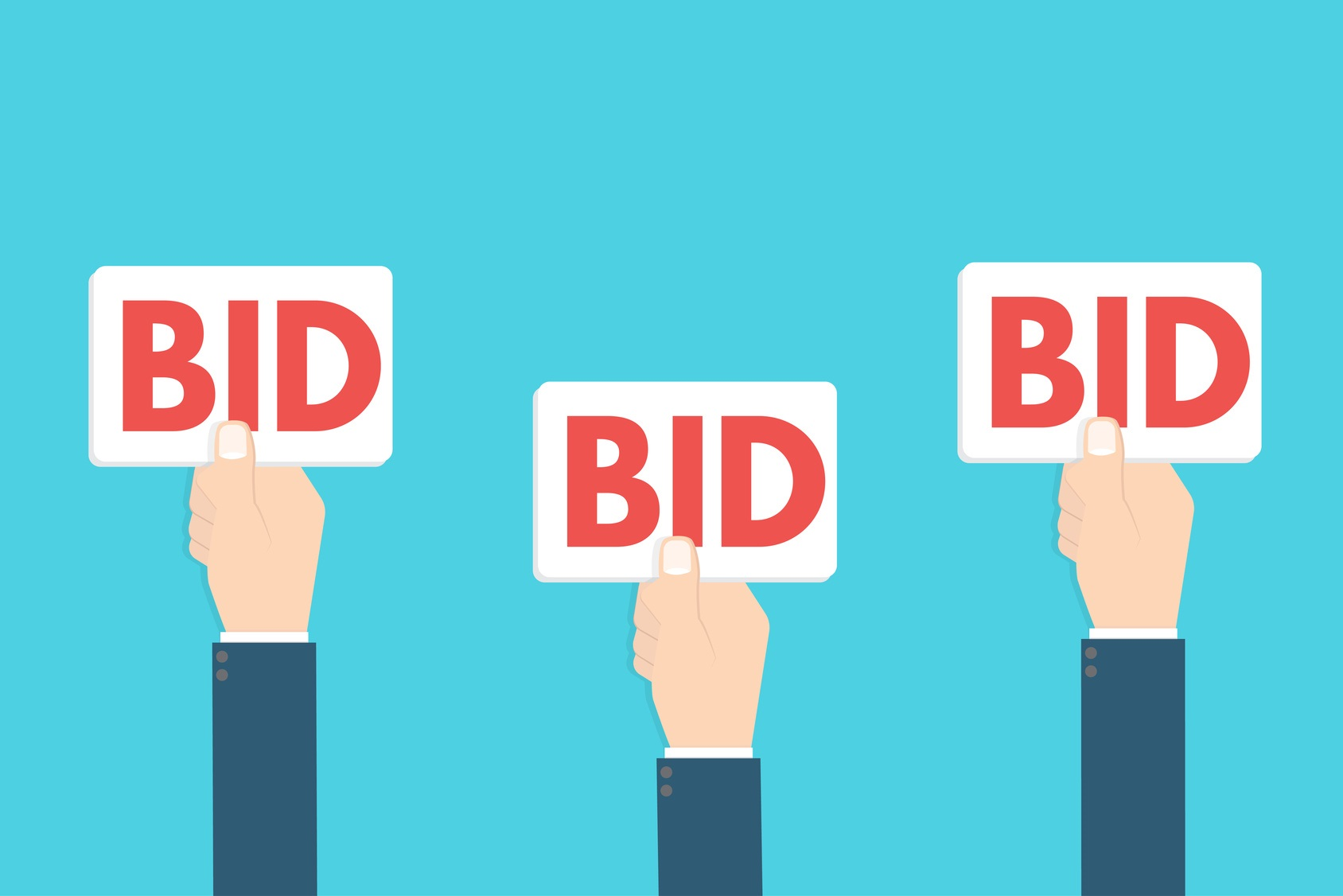 How to bid when you re buying a house at auction the for Get bids